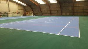 Tennis intérieur terminé