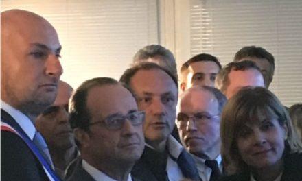 Laurent Chérubin reçoit François Hollande à l'IOT Valley (Labège Innopole)