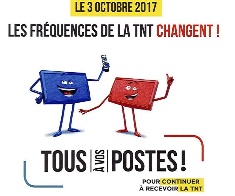 Le 3 octobre, les fréquences de la TNT vont changer