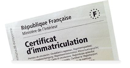 Certificat d'immatriculation : les démarches se feront en ligne