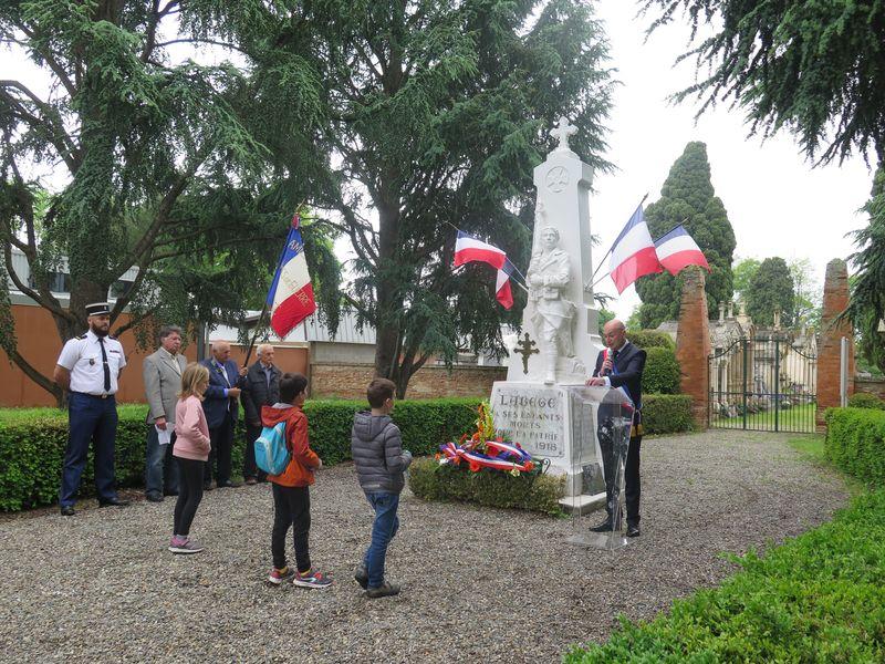 Cérémonie de commémoration du 8 mai 1945 à Labège