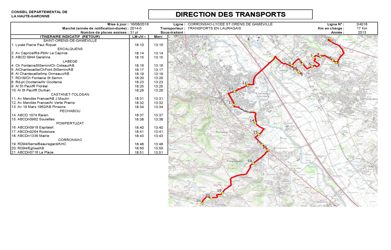 Plan De La Ville De St Orens