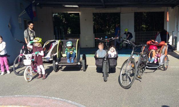 A pied ou à vélo : l'école a eu tout bon !