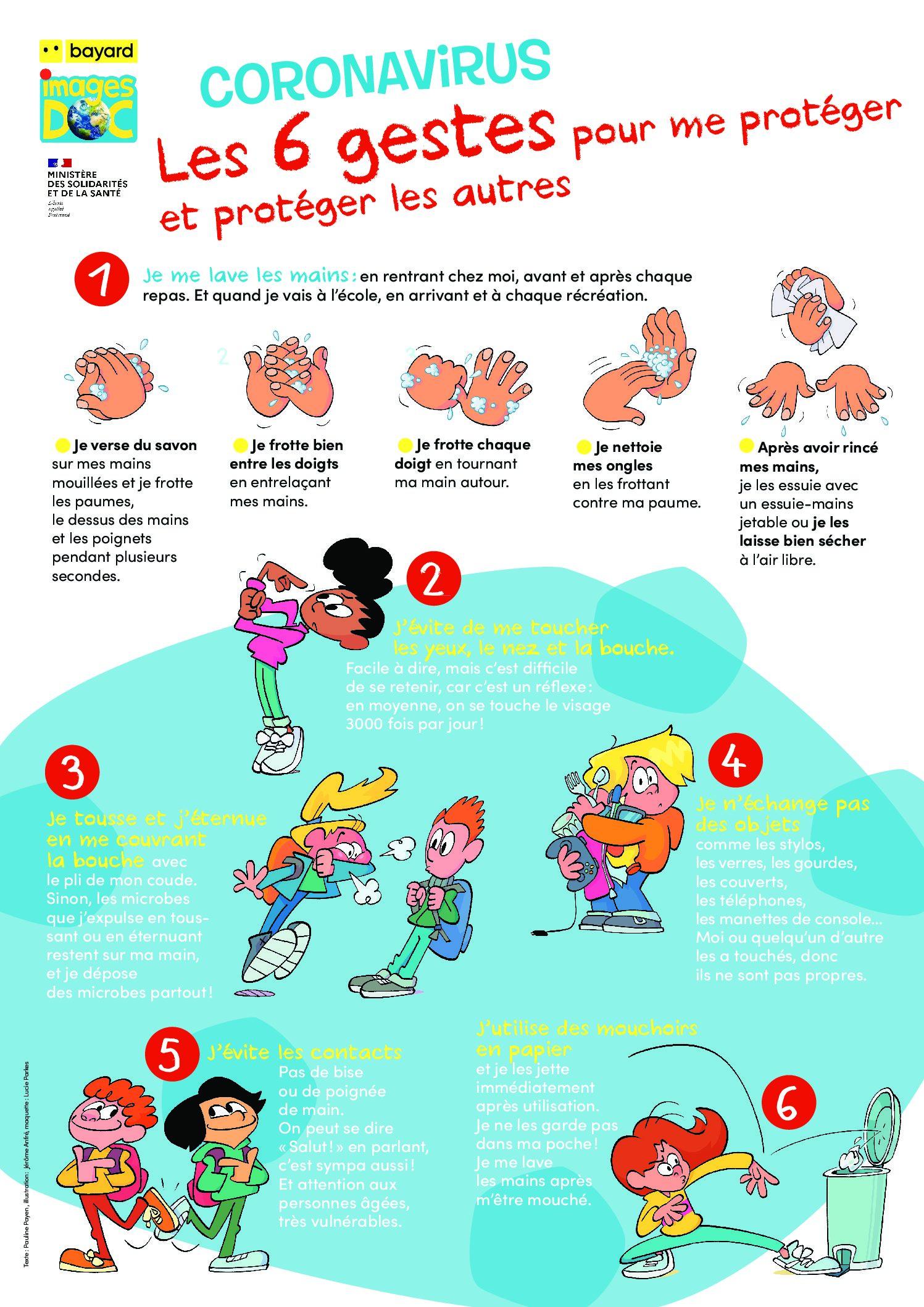 Coronavirus : les gestes barrières expliqués aux enfants