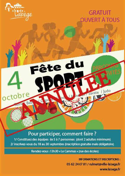 Fête du sport ANNULEE