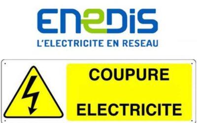 Coupure d'électricité le 28/10/2021