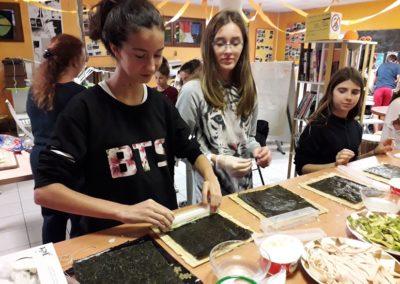 Préparation repas japonais
