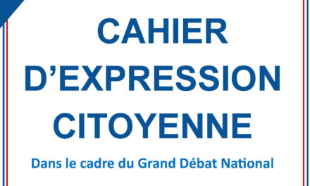 Cahier d'expression citoyenne