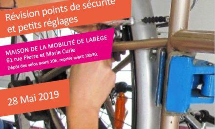 Mardi 28 Mai 2019 : révisez votre vélo