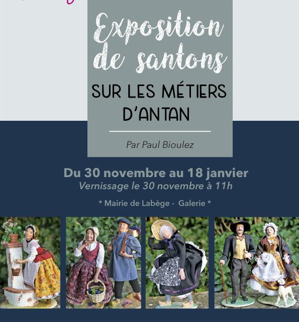 Exposition de santons sur les métiers d'antan