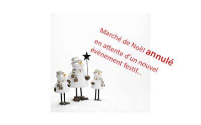 Marché de Noël ANNULE